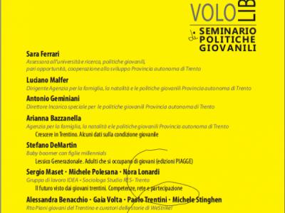 Seminario di politiche giovanili – Volo libero.