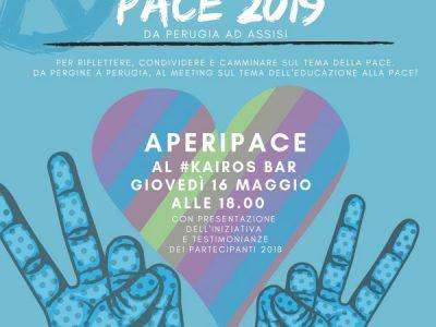 Aperipace: a Pergine un aperitivo per parlare della Marcia della Pace.